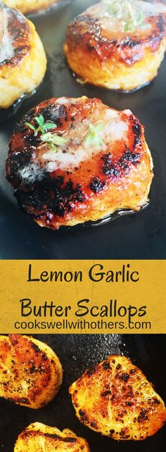 Lemon Garlic Butter Scallops - Cooks Well With Others -You can find Garlic and more on our website.Lemon Garlic Butter Scallops - Cooks Well With Others - Fish Recipes, Seafood Recipes, Gourmet Recipes, Dinner Recipes, Cooking Recipes, Healthy Recipes, Seafood Meals, Delicious Recipes, Crockpot Recipes