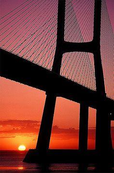 Vasco da Gama Bridge - Tagus river, Portugal | Sunrise hour:… | Flickr
