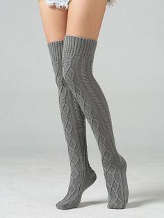 Knitting Over Knee-high 4 Colors Stocking – oshoplive Thigh High Boots Heels, Thigh High Socks, Thigh Highs, Knee Highs, Heel Boots, Fashion Tights, Latex Fashion, Emo Fashion, Emo Dresses