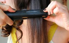 how to curl with straighteners