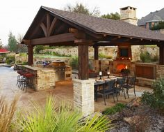 Fire Pit Under Gazebo Outdoor Patio Kitchen Best Outdoor Kitchens Ideas On Backyard Kitchen Fire Pit Under Gazebo And Traditional Fire Pit Pergola With Swings Outdoor Living Areas, Outdoor Rooms, Outdoor Decor, Outdoor Kitchens, Outdoor Cooking, Outdoor Entertaining, Rustic Outdoor, Outdoor Ideas, Outdoor Furniture