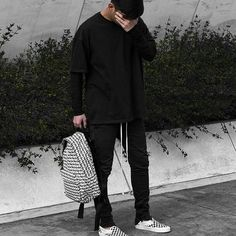 Black   by @khoidang_   ____________________________________  #fashionkiller #outfitoftheday #fashionista #streetstyle #streetwear #instafashion #instastyle #snobshots #lookbook #ootd #menswear #mensfashion #outfitfromabove #yeezyboost #highsnobiety #outfitgrid #ootdmen #hypebeast #outfit #picoftheday #photooftheday #allblackeverything #kicks #sneakerhead #fog #fearofgod #vans #black #supreme #jerrylorenzo