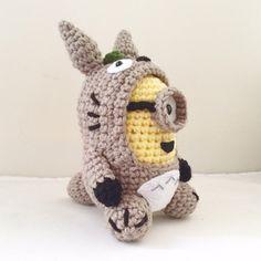 Totoro Minion PDF Pattern Crochet for Amigurumi Doll Plush by JAMigurumi on Etsy. Haha win!