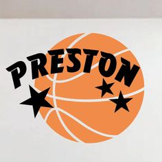 Basketball Star Name Sports Decal Vinyl Wall Lettering