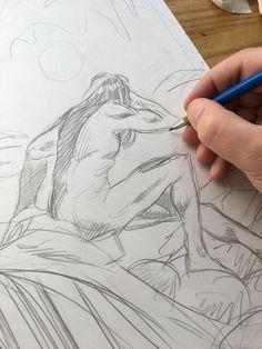 Rysowanie okładki do komiksu LAZARUS #1. Więcej: www.martewicz.art Comic Art, Cartoon Art