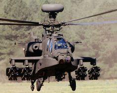 The AH-64 Apache Longbow, armed with Hellfire missiles and an M230 30mm cannon, is the most feared helicopter in the air to date. The Apache can also be outfitted with external fuel pods and 2.75in unguided rockets.