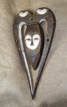 African masks of the Kwele people of Gabon