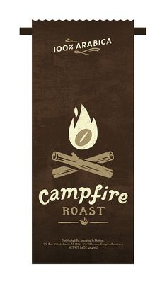 Campfire Roast coffee packaging by super_furry, via Flickr