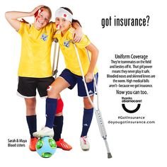 ObamaCare feels your pain. They know that white girls cannot play soccer, but with ObamaCare they can have fun trying! Thanks Obamacare! :) ============== Do you#GotInsurance. Learn more at DoYouGotInsurance.com.#ThanksObamacare!