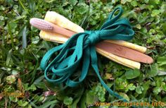 Eco party favour idea. Cloth napkin, compostable toothbrush and shoe laces.