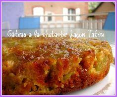 Recette de Gâteau à la rhubarbe façon Tatin : la recette facile