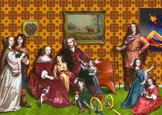"""Jan Mijtens, Portrait der Familie Willem van den Kerckhovens (um 1652) – Retromode: Interieur und Spielzeug der """"wilden"""" 1570er Jahre"""