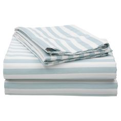 Create a luxe retreat in your master suite or guest room with this timeless cotton sateen sheet set, showcasing a tonal stripe motif.  ...