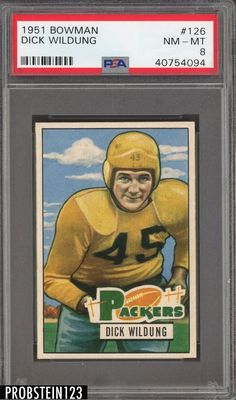 c86f0fe99 1951 Bowman Football  126 Dick Wildung Packers PSA 8 NM-MT  FootballCards  Football
