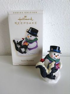 Hallmark Keepsake Ornament, 2006 Snow Buddies, #9 (Snowman & Skunk)