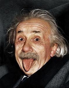 Albert Einstein //  Historic Black & White Portraits Of Famous Men, Now In Color - DesignTAXI.com