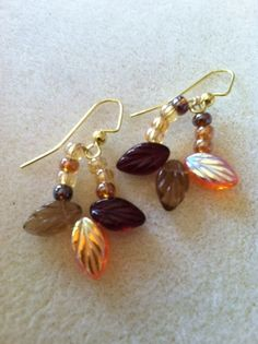 Fall Leaves Earrings by Originalsbydenise on Etsy, $12.00