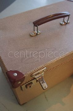 Suitcase Vintage Stripe Suitcase, Lounge Ideas, Vintage, Check, Wedding, Fashion, Valentines Day Weddings, Moda, Living Room Ideas