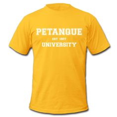 "Men's Premium T-shirt by American Apparel - Tee shirt American Apparel Homme - Collection ""Petanque University"" #extremeboules #pétanqueextrème #streetpetanque #urbanpetanque #extremebocce #petanque #petanca #jeuxdeboules #boules #bocce #bocceball #beautiful #fashion #pretty #fashionstyle #street #shirt #shopping #styleoftheday #comfortable #outfitideas #outfit #trendystyle #inspiration #unique #menswear #clothes #outfitoftheday #mensfashion #shop #boutique #beauty #streetstyle #yellow"