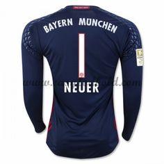 Fodboldtrøjer Bundesliga Bayern Munich 2016-17 Neuer 1 Målmand Hjemmetrøje Langærmede