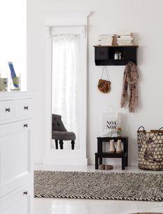 details zu standspiegel kosmetikspiegel spiegel bilderrahmen holz natur wei landhaus spiegel. Black Bedroom Furniture Sets. Home Design Ideas