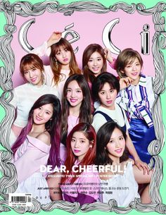 K pop girl group TWICE are the latest idols to rock the cover of the fashion publication CeCi Magazine. The girls show their glamorous looks and cheerful energy for the pictorial. K Pop, Kpop Girl Groups, Korean Girl Groups, Kpop Girls, Ioi Doyeon, Mamamoo, Signal Twice, The Band, Oppa Gangnam Style