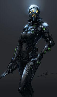 Female Mech-Suit