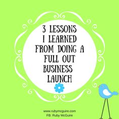 In this episode, Ruby shares 3 key things she learned from doing a full out launch, and how she'd do it differently next time Click the play button below to listen, or scroll down and click 'Read full transcript' if you prefer to read the post.   Grab your copy of my free Visibility Quiz - work out where you could be more visible in your business - http://www.bit.ly/VisQuiz Join my free FB community to connect with me and other fabulous solopreneurs to help you Rock Yo...