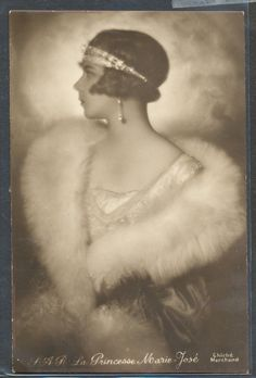Princess Marie José was certainly glamorous.  She married Umberto II of Italy and they ruled Italy as King and Queen for 35 days before they were voted out of office.  Marie Jose and Umberto had four children but their marriage did not survive.   They lived separately for the rest of their lives.