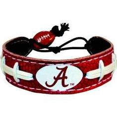 Leather Alabama football bracelet... I have this but my has an elephant. Love it!!