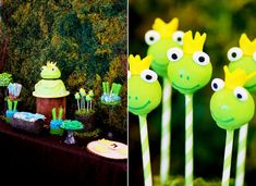 Frog Prince Baby Shower via Karas Party Ideas karaspartyideas.com #frog #prince #baby #shower #idea #birthday #party #ideas #cake #decorations #supplies