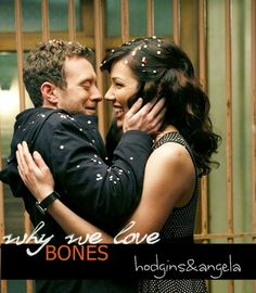 Why We Love Bones - I possibly love their love story more than B&B. I just love how Hodgins kiss Angela's cheeks.