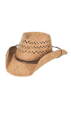 Scala Tan with Rhinestone Hatband   Chincoard Vented Straw Cowboy Hat  LR678OS  7de972dd23cd