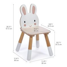 Diy Wooden Projects, Wooden Diy, Spiegel Design, Wooden Table And Chairs, Plywood Chair, Wooden Rabbit, Baby Room Decor, Kids Furniture, Baby Toys