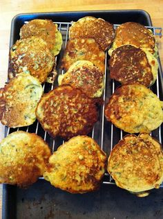 Plenty of fritters to eat now and freeze for later.
