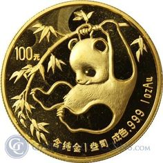 1985 1 oz Gold Chinese Panda