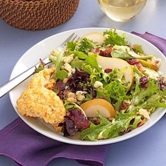 Greens with Bacon & Cranberries Recipe -After eating this fabulous dinner salad at a restaurant while we were on vacation, I couldn't wait to get back to my own kitchen to re-create it. It's been a huge success in our family. —Brenda Nakhla, Lac du Flambeau, Wisconsin