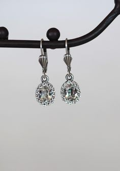 """""""Joined Together"""" teardrop earrings with Swarovski crystal from Ruche."""
