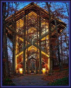 Thorncrown Chapel Nestled Amidst Northeastern Arkansas Ozark Mountains