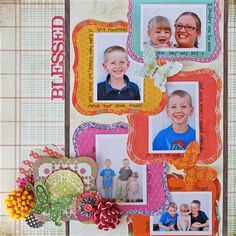 """Blessed"" by Pamela Young, as seen in the Club CK Idea Galleries. #scrapbook #scrapbooking #creatingkeepsakes"