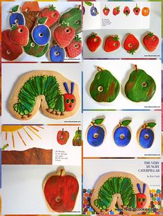 @Carrie Mcknelly Boarman - Check out these Hungry Caterpillar cookies for C's 1st birthday party!