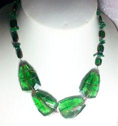 Glass gem  necklace jewellery  http://spoilmesilly.com.au/