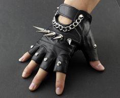 Dope Fashion, Punk Fashion, Leather Fashion, Biker Leather, Leather Gloves, Punk Outfits, Cool Outfits, Corsets, Biker Gloves