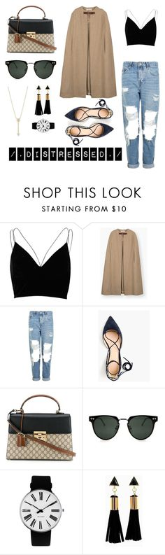 """""""On The Run"""" by aphrodite97s on Polyvore featuring River Island, Topshop, J.Crew, Gucci, Spitfire, Rosendahl and EF Collection"""