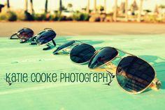 Sunglasses of four best friends