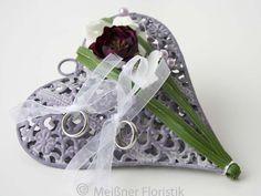 Ringkissen - Ringkissen Hochzeit Metall Ornament - ein Designerstück von Meissner-Floristik bei DaWanda