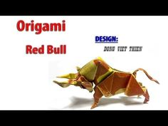 How to fold Origami Bull - Dong Viet Thien - YouTube