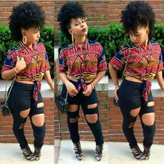 love the outfit.i wold have chosen a different hair style though. Swag Outfits, Dope Outfits, Fashion Outfits, Womens Fashion, Retro Outfits, Urban Outfits, School Outfits, Black Girl Fashion, Look Fashion