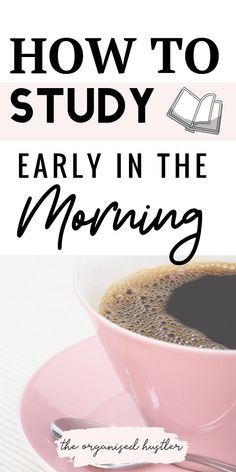 How to get up early and study successfully. How to get up early and study successfully. University Organization, College Organization, School Goals, School Study Tips, Study Techniques, Study Methods, College Life Hacks, College Classes, Best Study Tips
