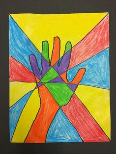 Art @ Massac: Stain Glass Hands